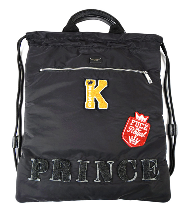 Dolce & Gabbana Prince Patch Nylon Backpack - ACCESSX