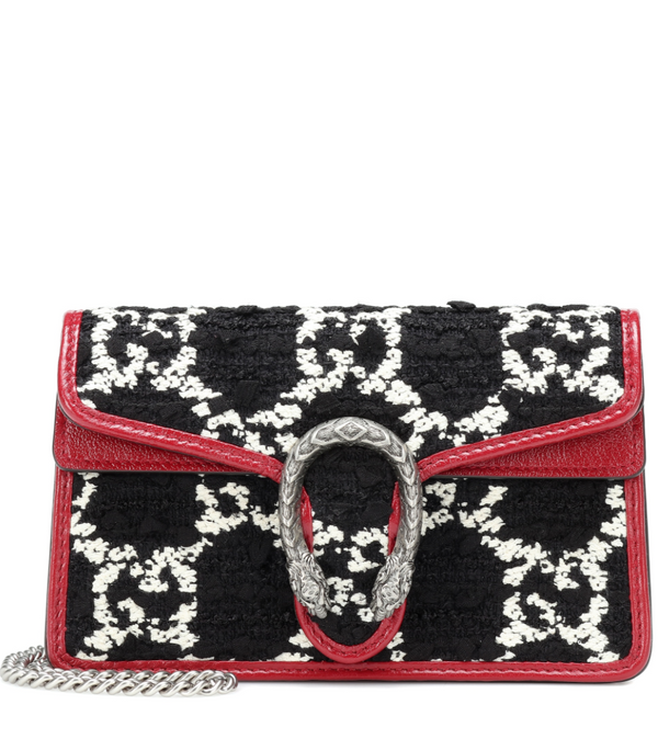 Gucci Dionysus Super Mini Crossbody Bag in Tweed