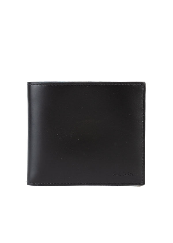 Paul Smith Mens Black Cycling Jersey Leather Wallet - ACCESSX