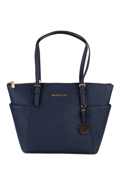 MICHAEL Michael Kors Womens Jet Set East West Saffiano Leather Tote - ACCESSX