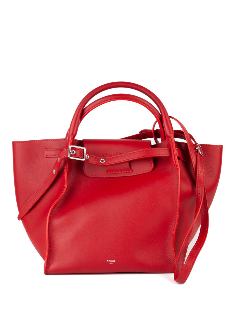 Celine Womens Red Smooth Small Big Bag - ACCESSX