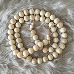 Chunky Wood Bead Garland