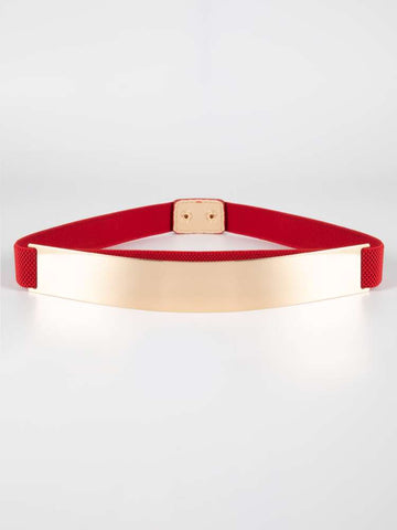 Red Metal Glam Belt