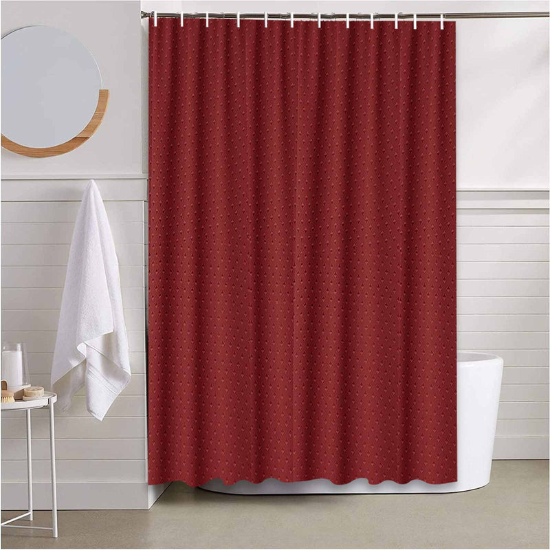 Long Water Proof Burgundy Shower Curtain