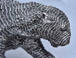 Sterling Silver Hallmarked Stalking Panther