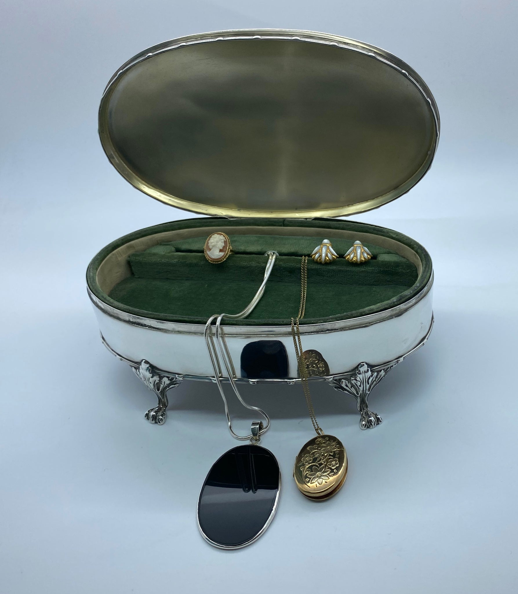 Antique Silver Jewellery Box