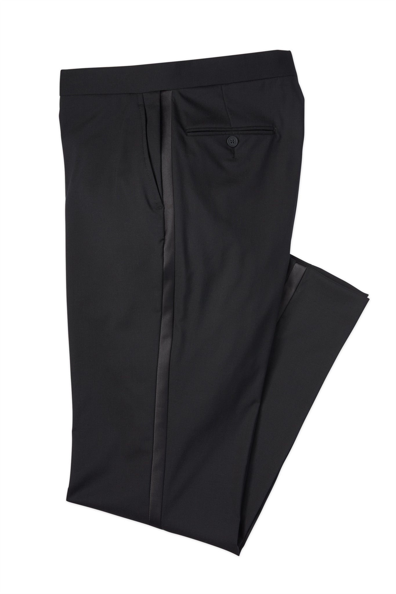 Modern Fit Black Super 110's Worsted Wool Performance Tuxedo Pant -  Hardwick.com