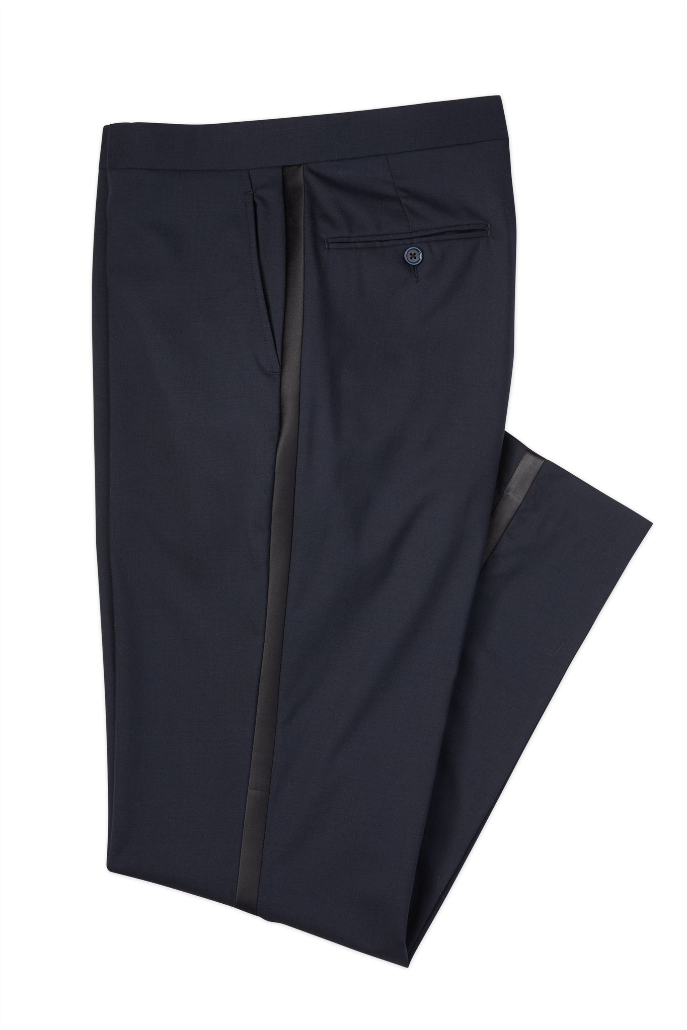 Modern Fit Navy Super 110's Worsted Wool Performance Tuxedo Pant -  Hardwick.com