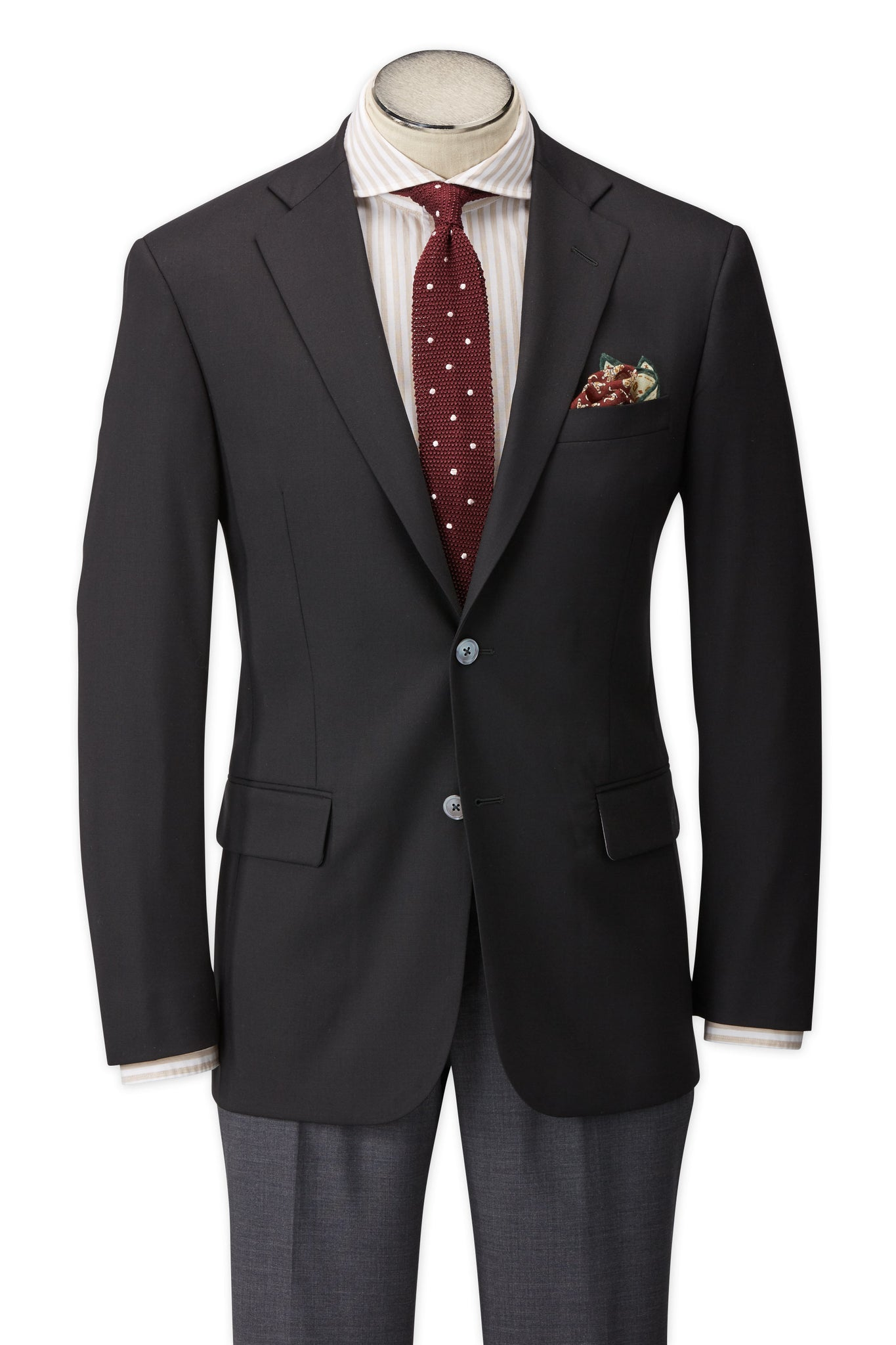Modern Fit Black H-Tech Super 110's Wrinkle Resistant Wool Blazer -  Hardwick.com