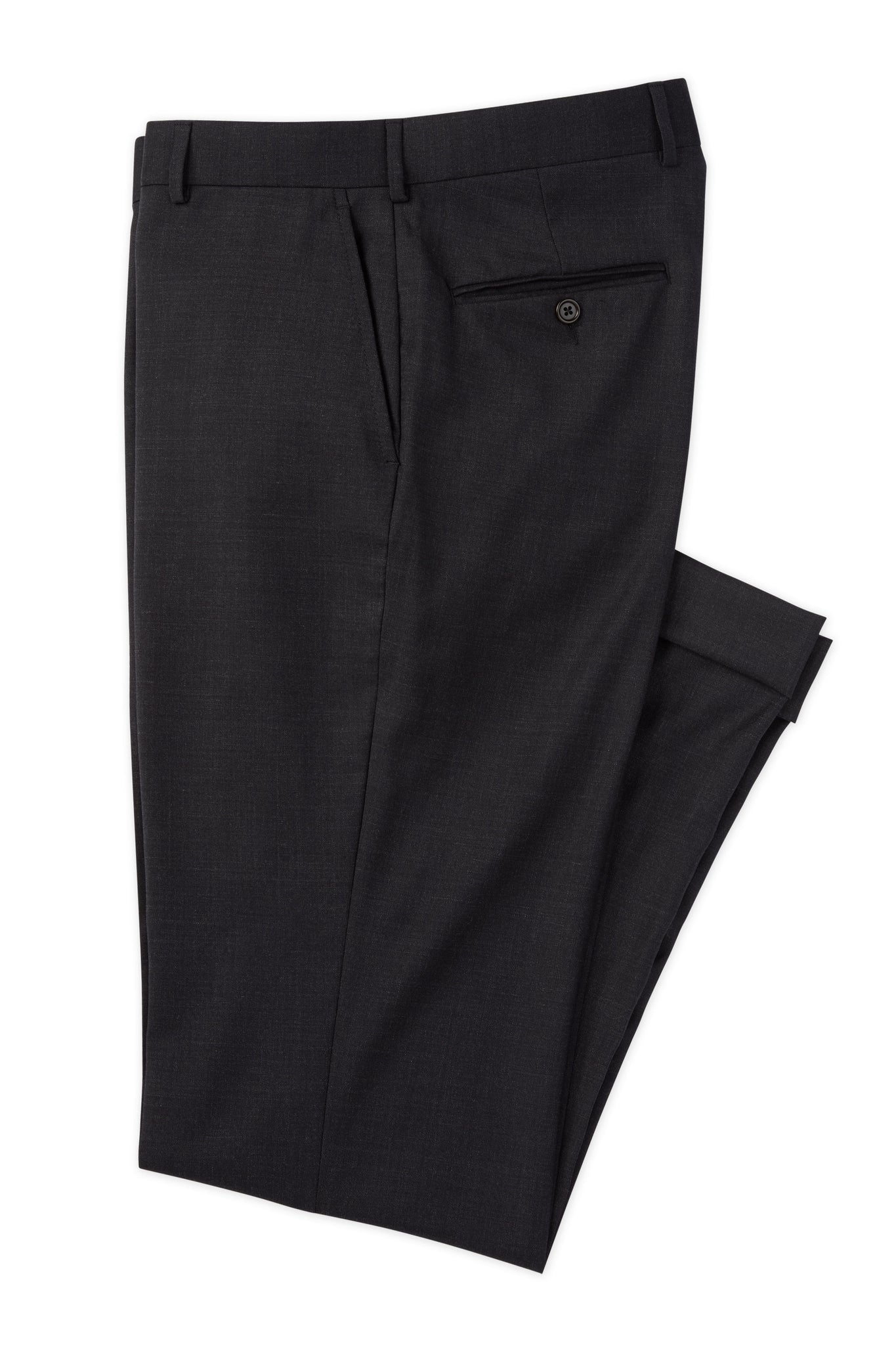 Modern Fit Charcoal H-Tech Performance Wool Suit -  Hardwick.com