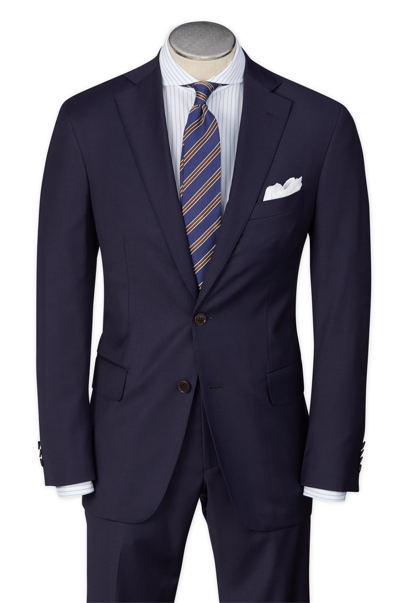 Modern Fit Navy H-Tech Performance Wool Suit -  Hardwick.com