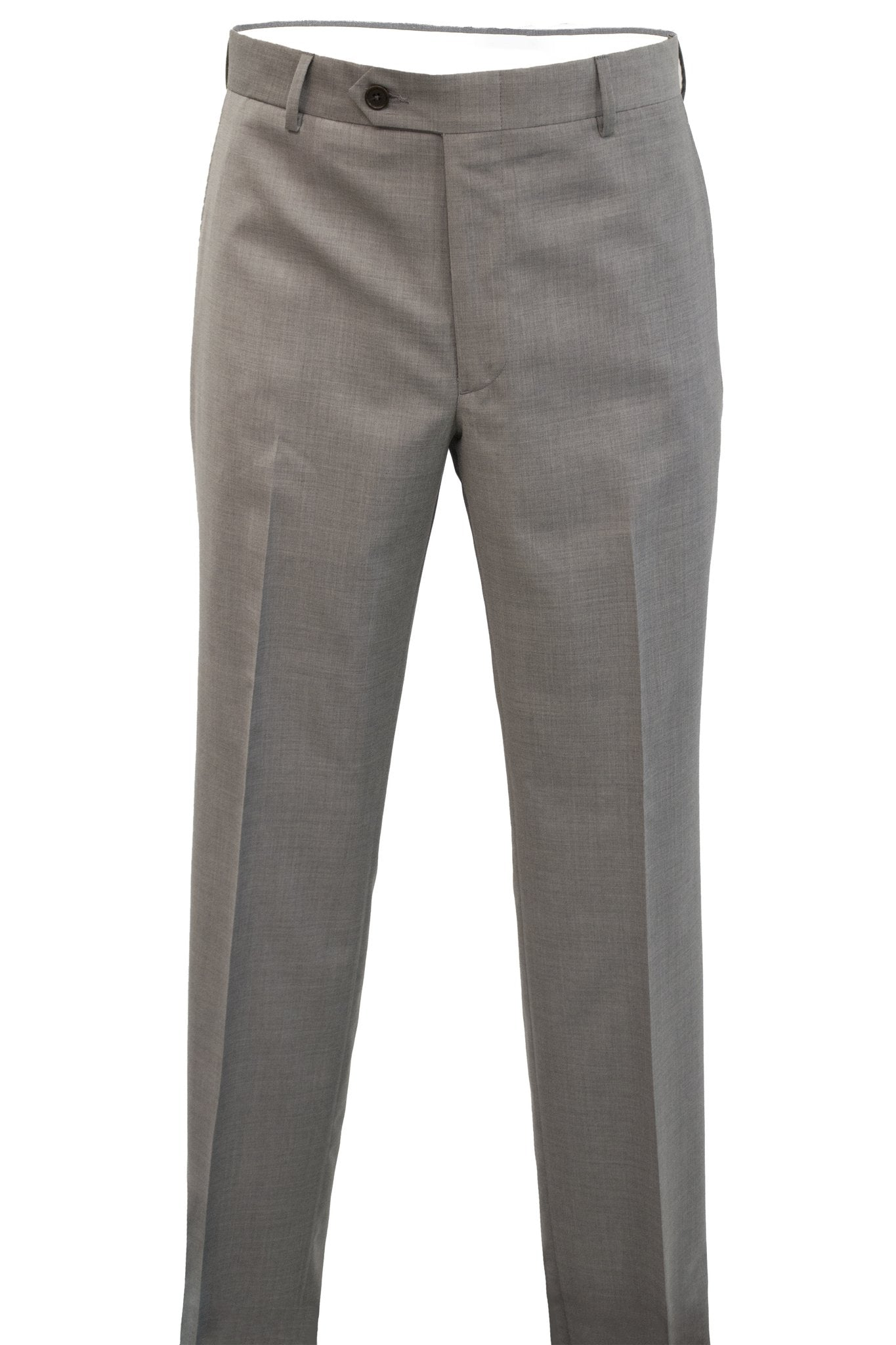 Modern Fit Light Grey Super 120's Wool Flat Front Dress Pant -  Hardwick.com