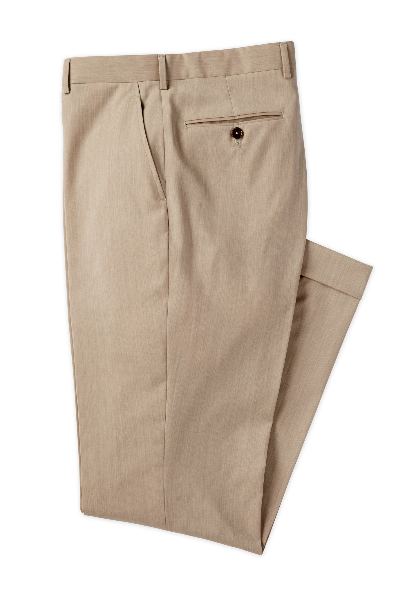 Modern Fit Tan Super 120's Wool Flat Front Dress Pant -  Hardwick.com
