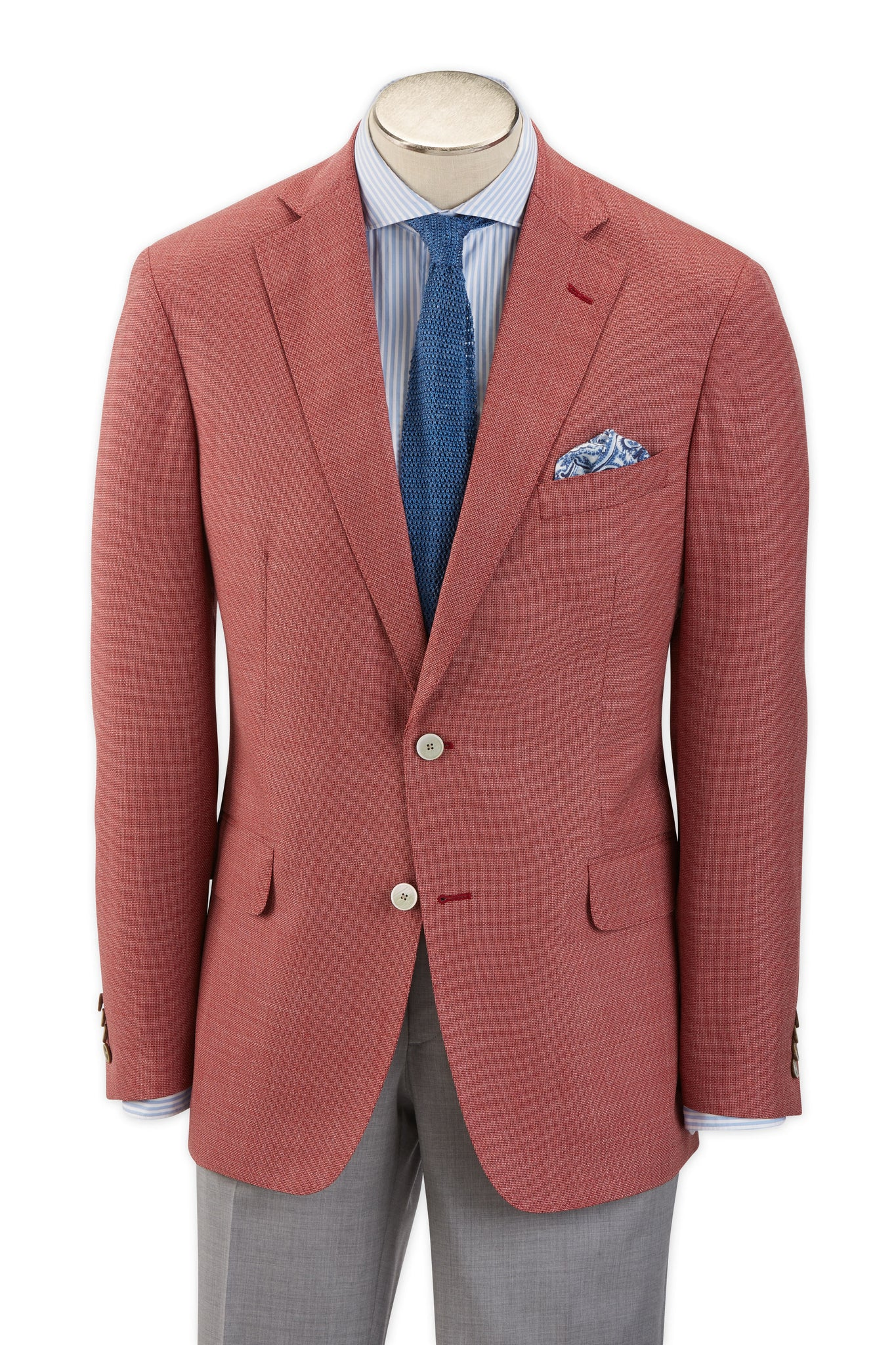 Modern Fit Red Tropical Wool Sport Coat -  Hardwick.com