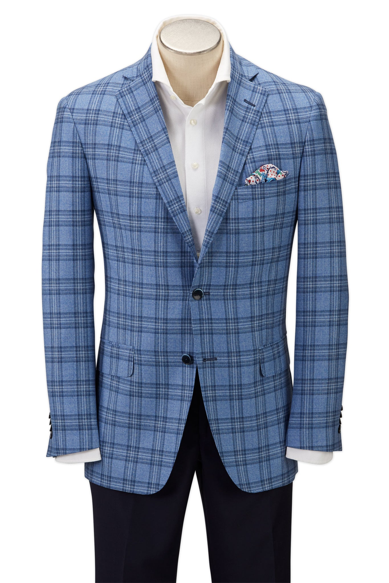 Modern Fit Blue Plaid Sport Coat -  Hardwick.com