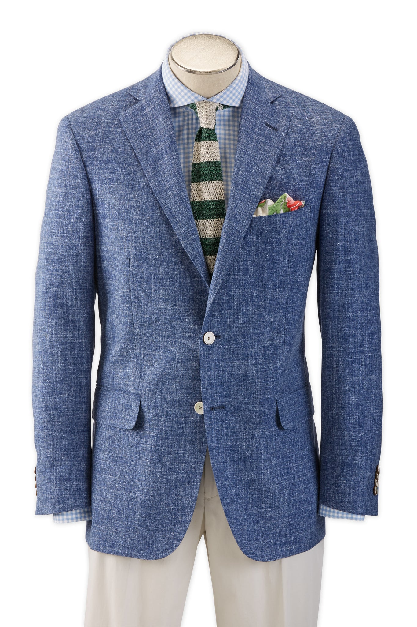 Modern Fit Summer Blend Melange Sport Coat -  Hardwick.com
