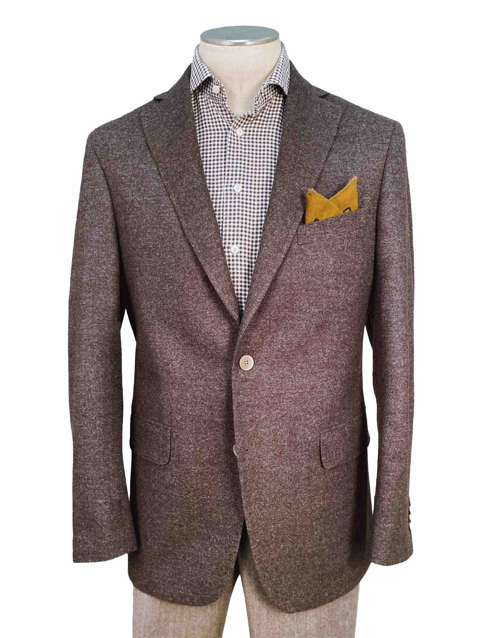 Men's Sport Coat Modern Cut - BROWN - 70% WO 110'S/30% AIRWOOL