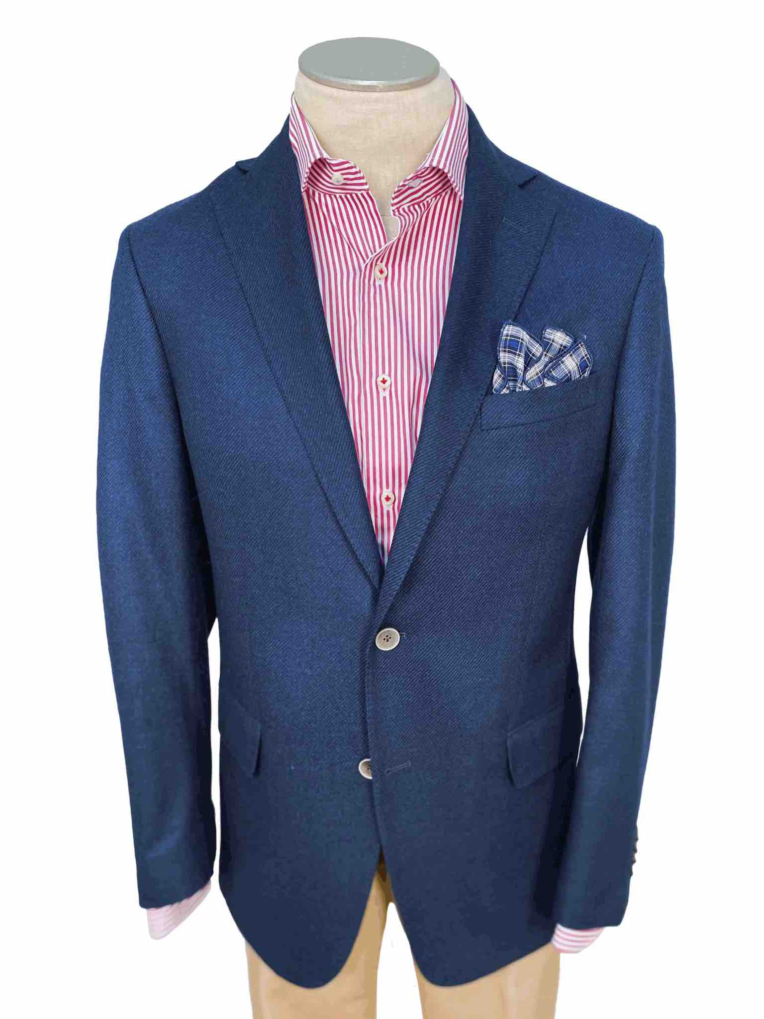 Men's Sport Coat Modern Cut - BLUE - 70/30 WOOL/AIRWOOL