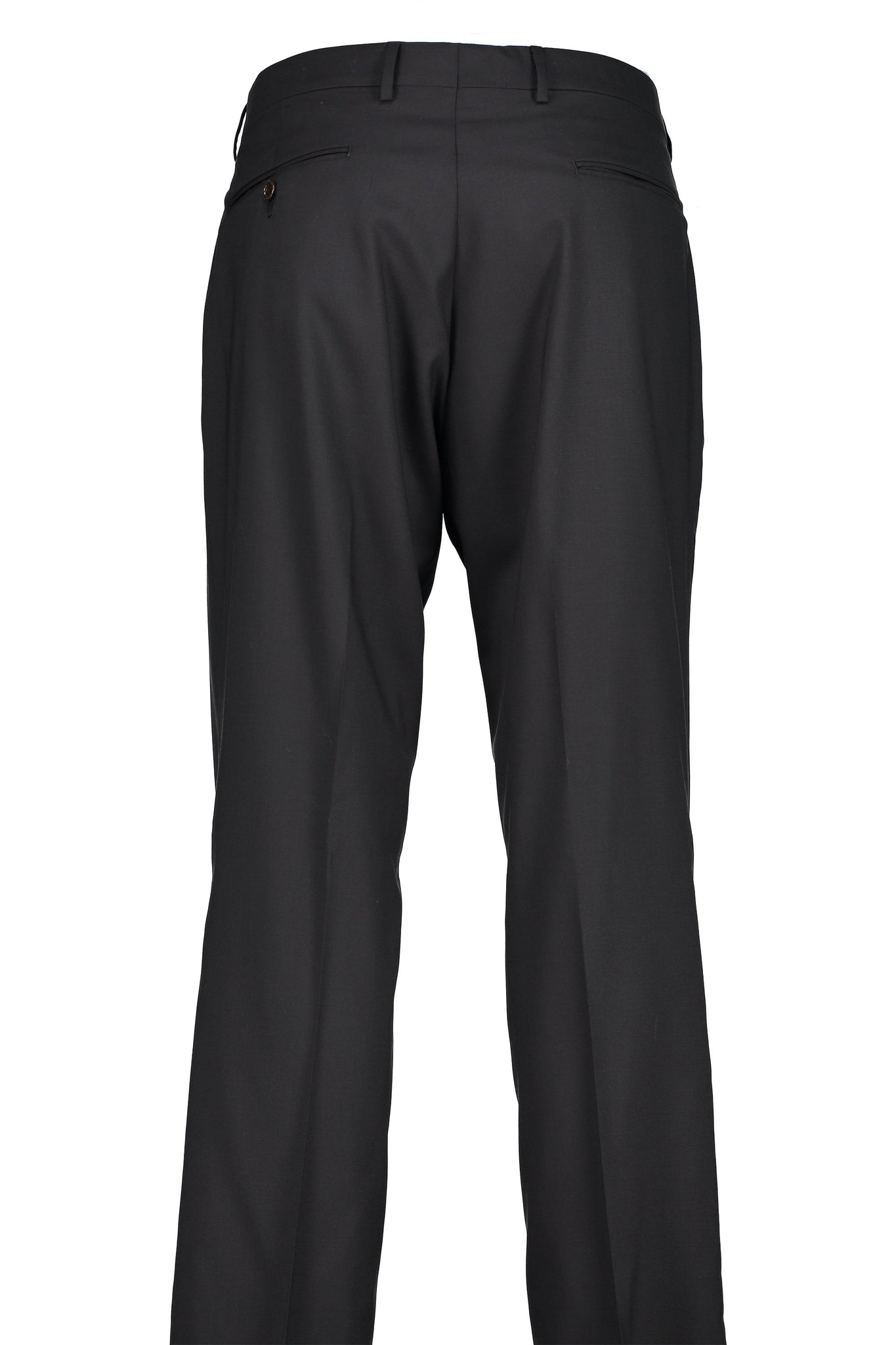 Classic Fit Black H-Tech Wool Suit Separate Flat Front Pants -  Hardwick.com