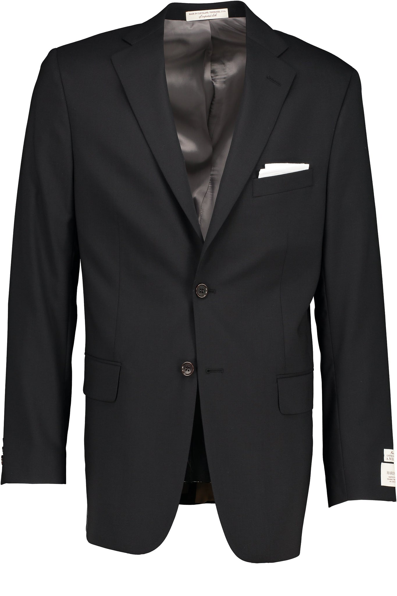 Classic Fit Black H-Tech Wool Suit Separate Jacket - Big & Tall