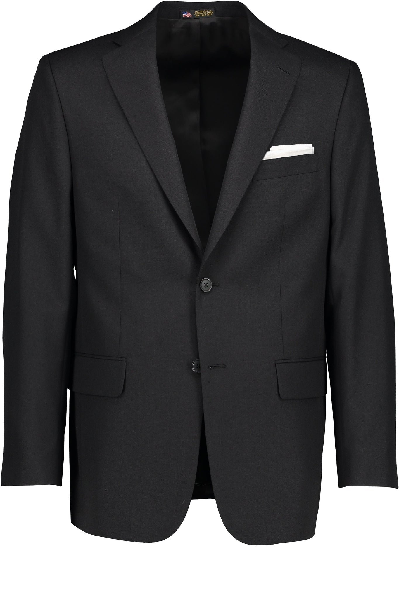Classic Fit Black Wool Traveler Suit Separate Jacket -  Hardwick.com