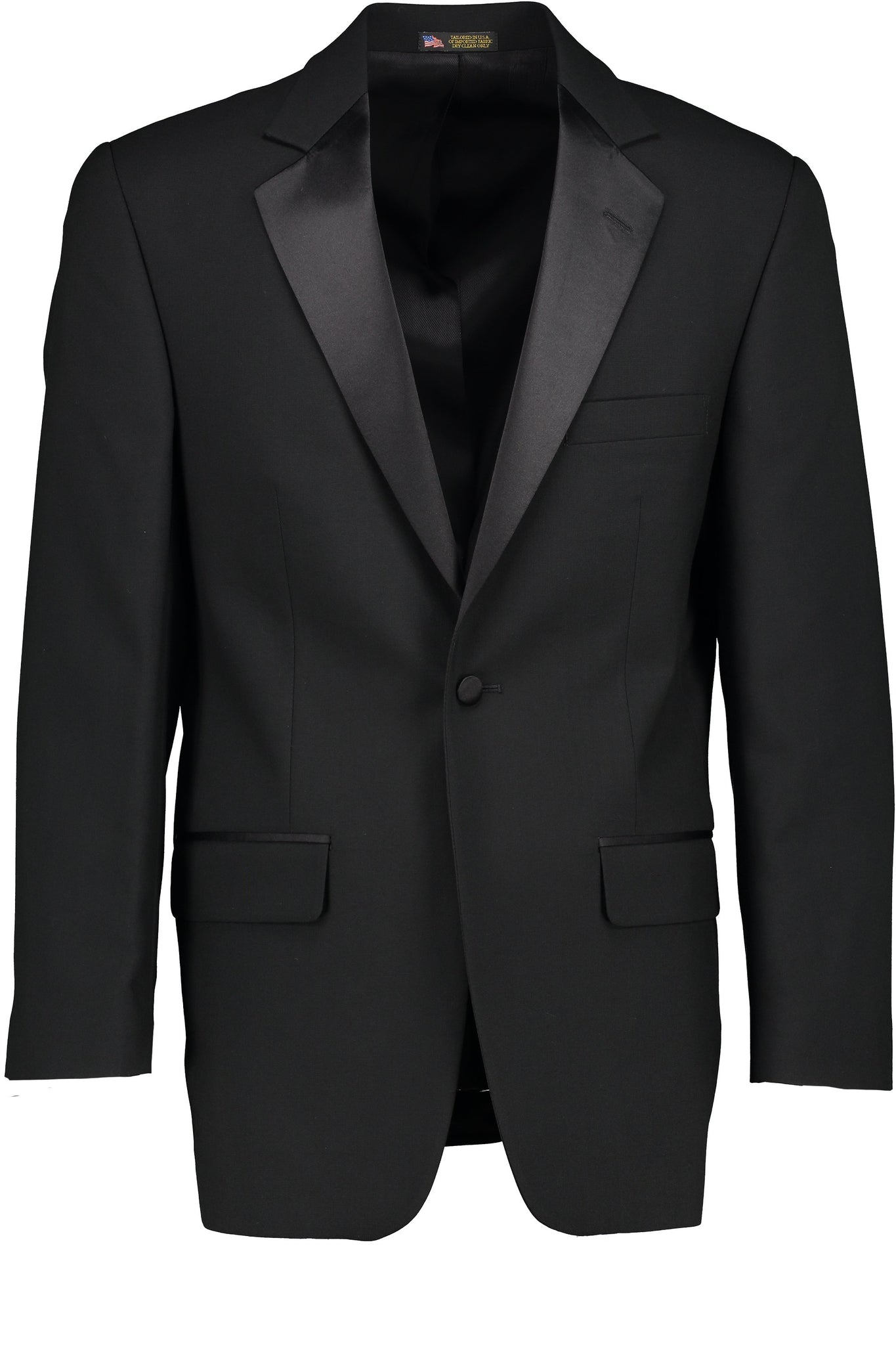 Classic Fit Black Wool Notch Lapel Tuxedo Jacket
