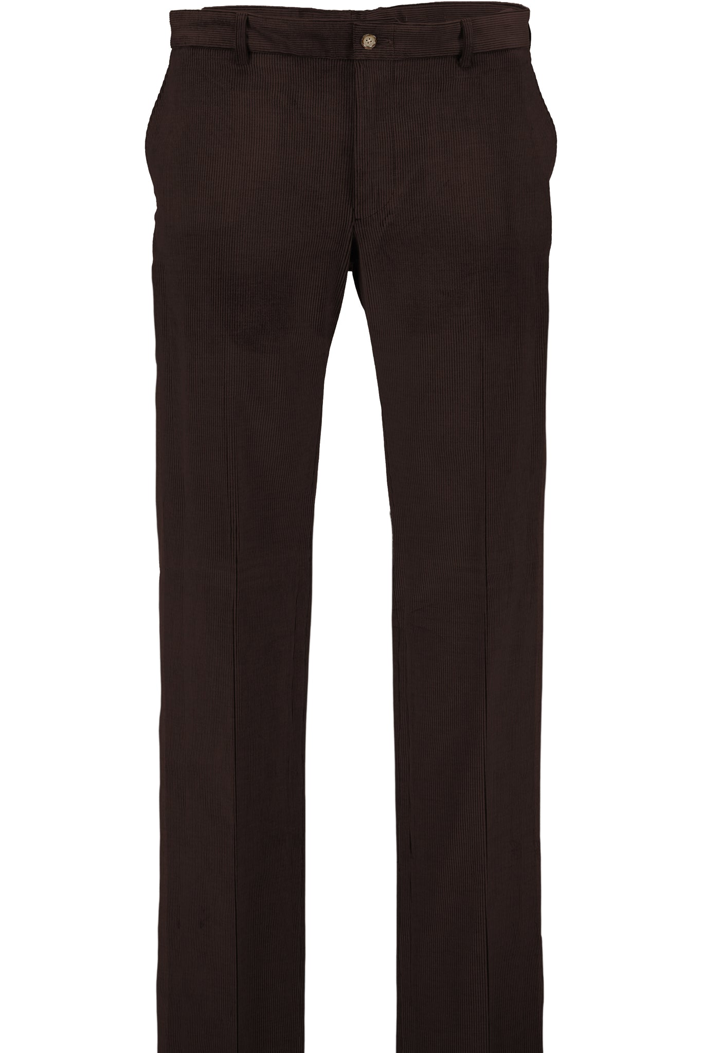 Modern Fit Brown Medium Wale Corduroy Flat Front Dress Pant -  Hardwick.com