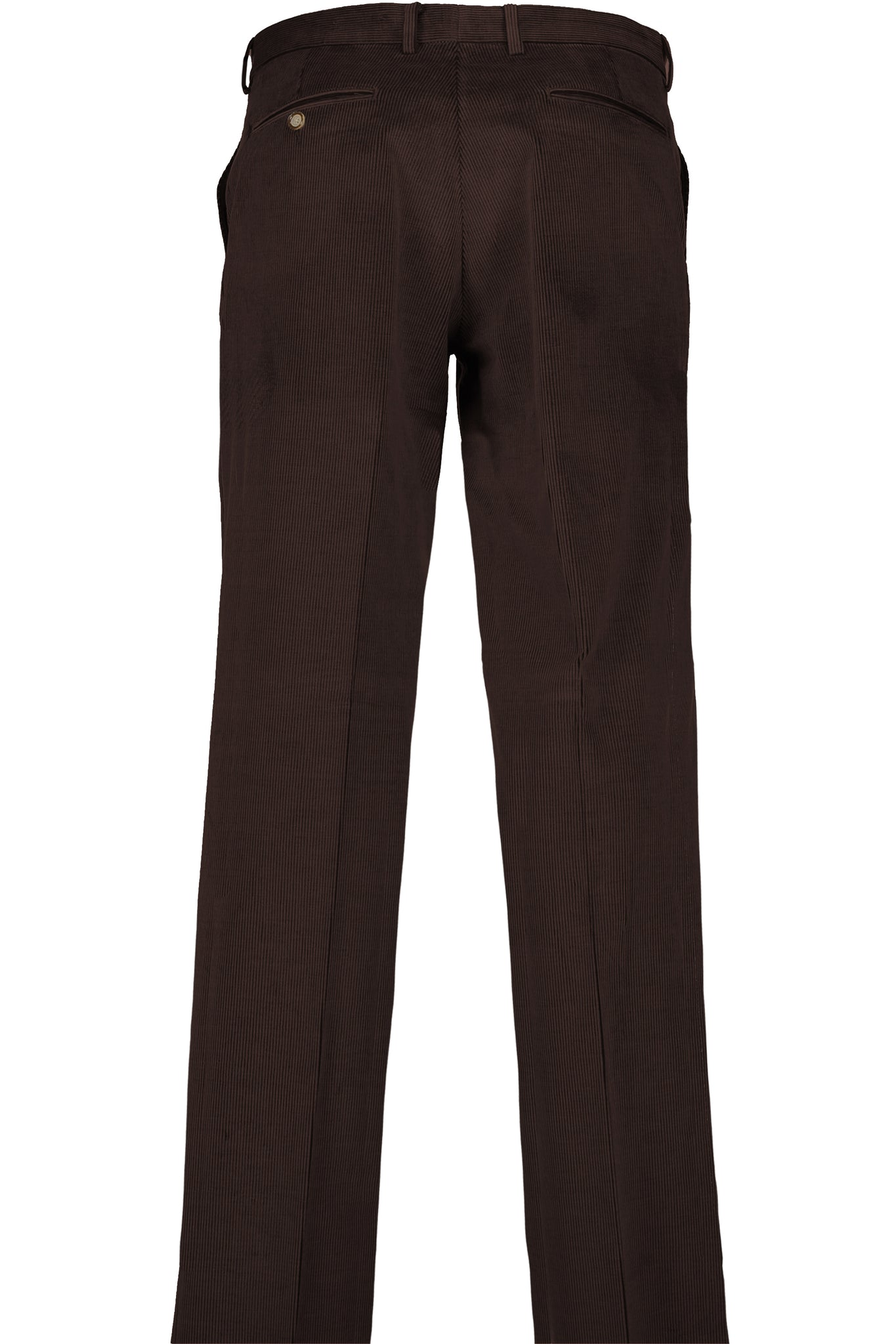 Modern Fit Brown Medium Wale Corduroy Flat Front Dress Pant