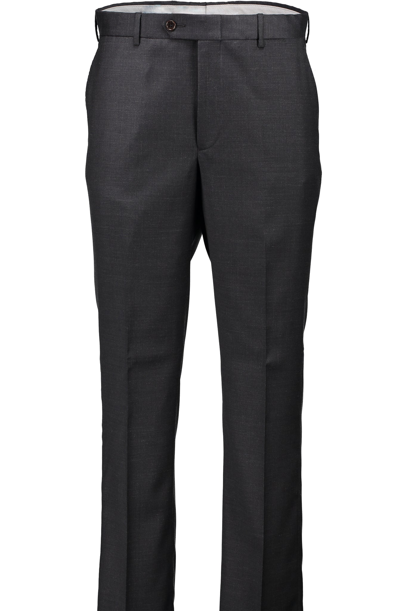 Classic Fit Charcoal Wool Traveler Suit Separate Flat Front Pant