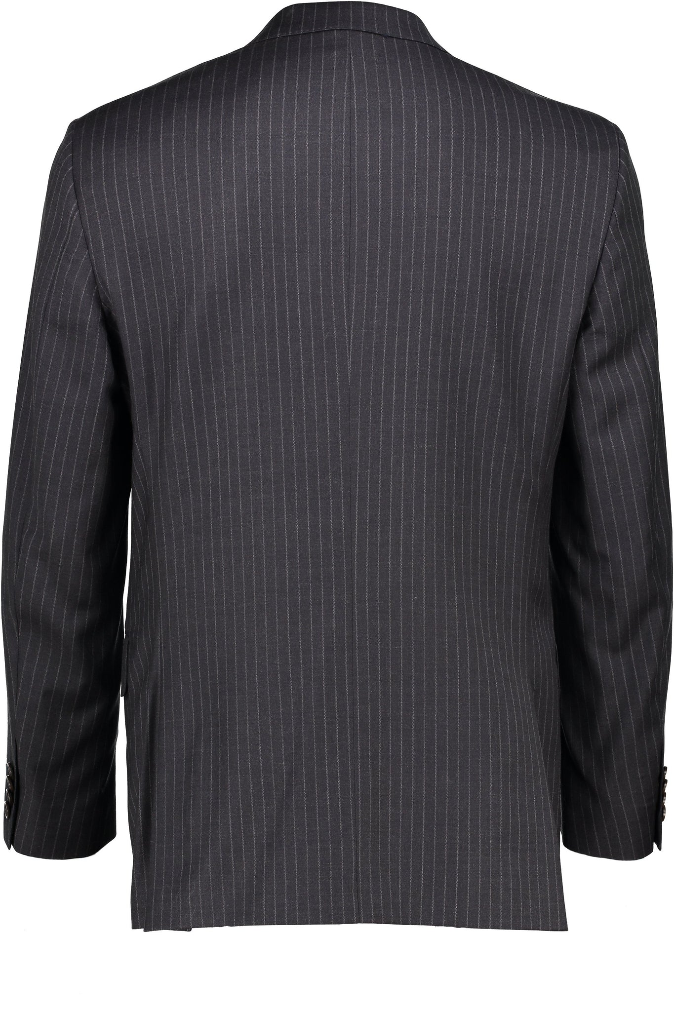 Modern Fit Charcoal Pinstripe H-Tech Performance Wool Suit -  Hardwick.com