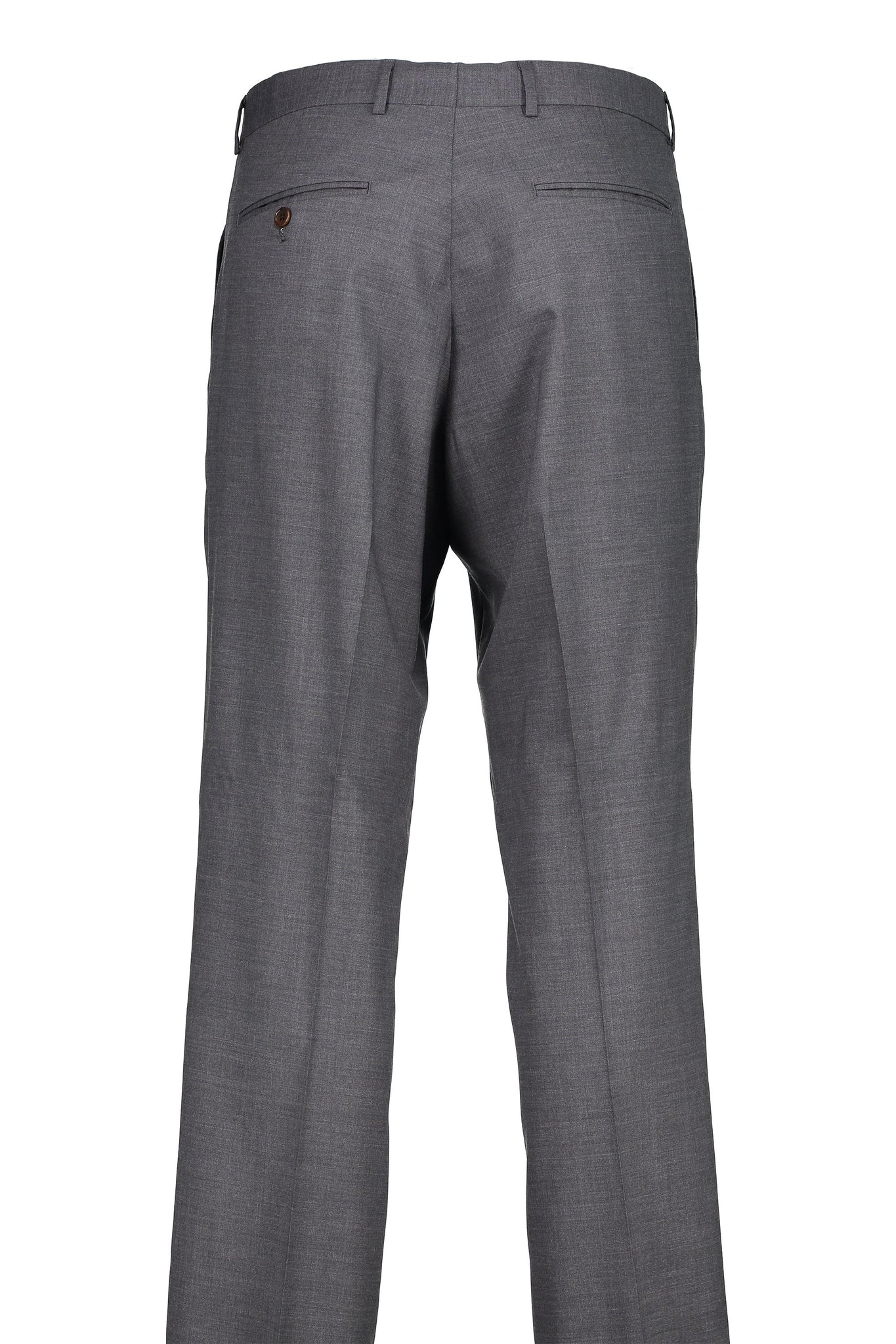 Classic Fit Grey H-Tech Wool Suit Separate Flat Front Pant -  Hardwick.com