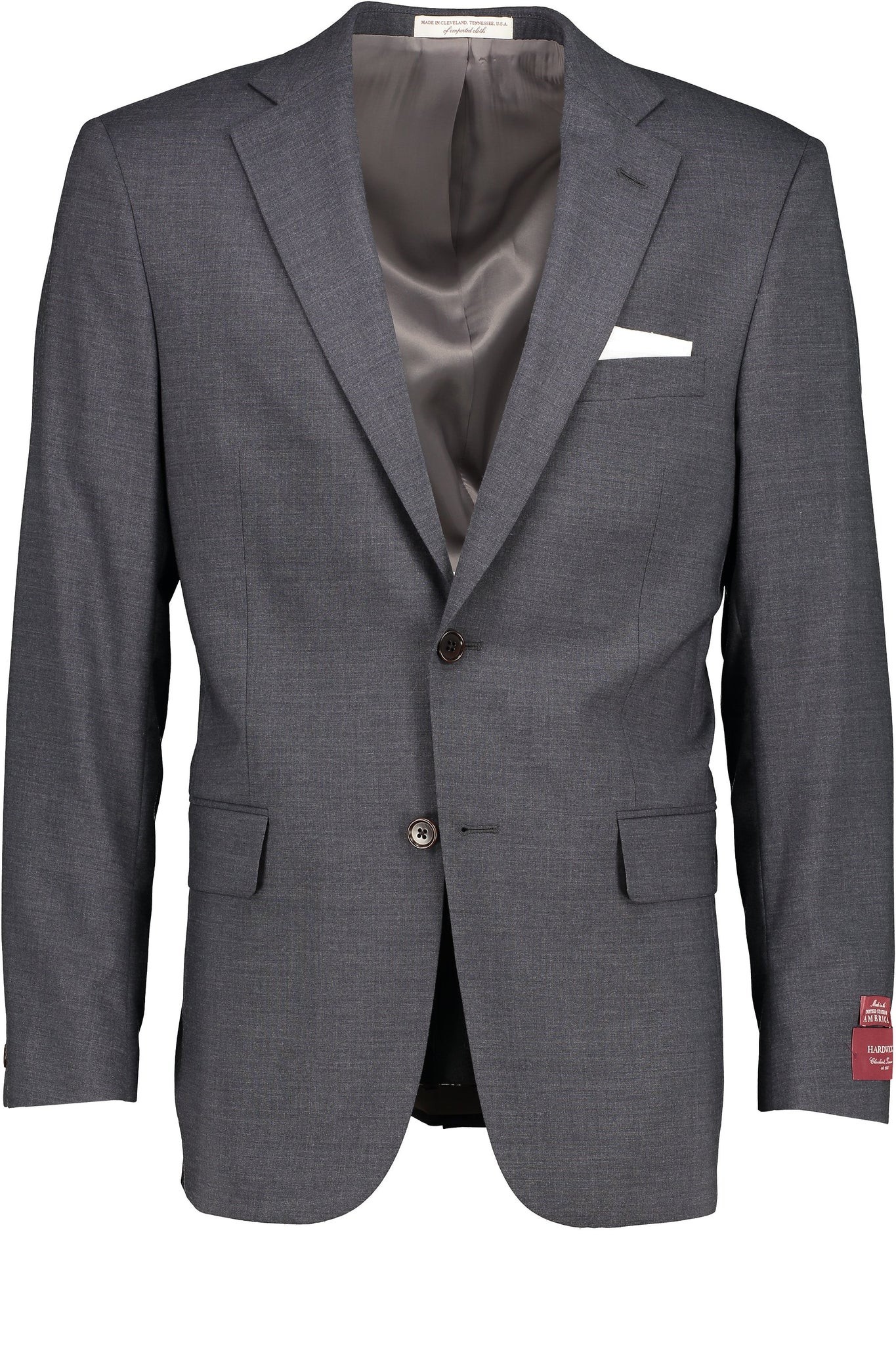 Classic Fit Grey H-Tech Wool SS Jacket - Big & Tall -  Hardwick.com