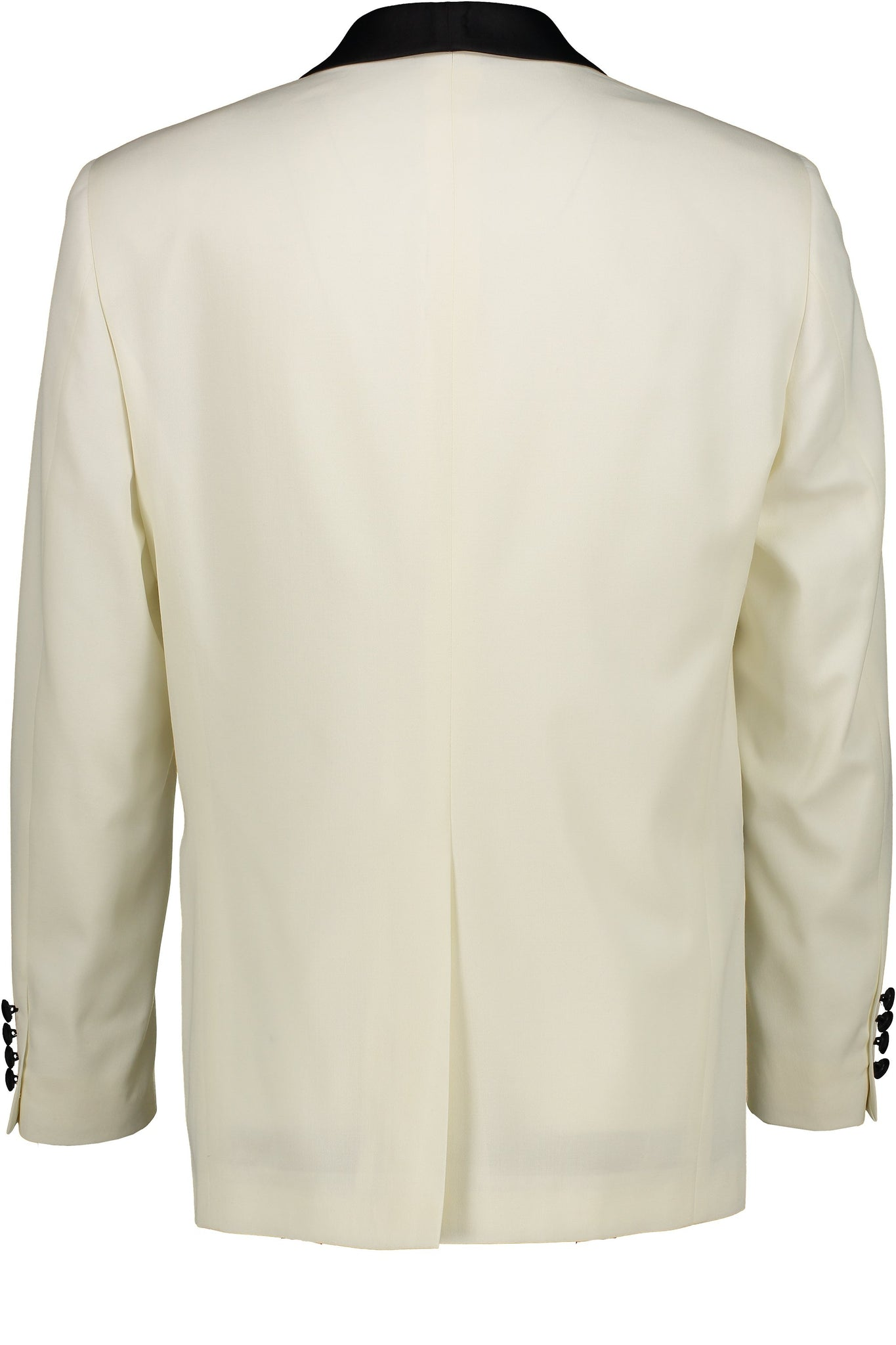 Classic Fit Ivory Wool Dinner Jacket with Black Satin Shawl Collar -  Hardwick.com