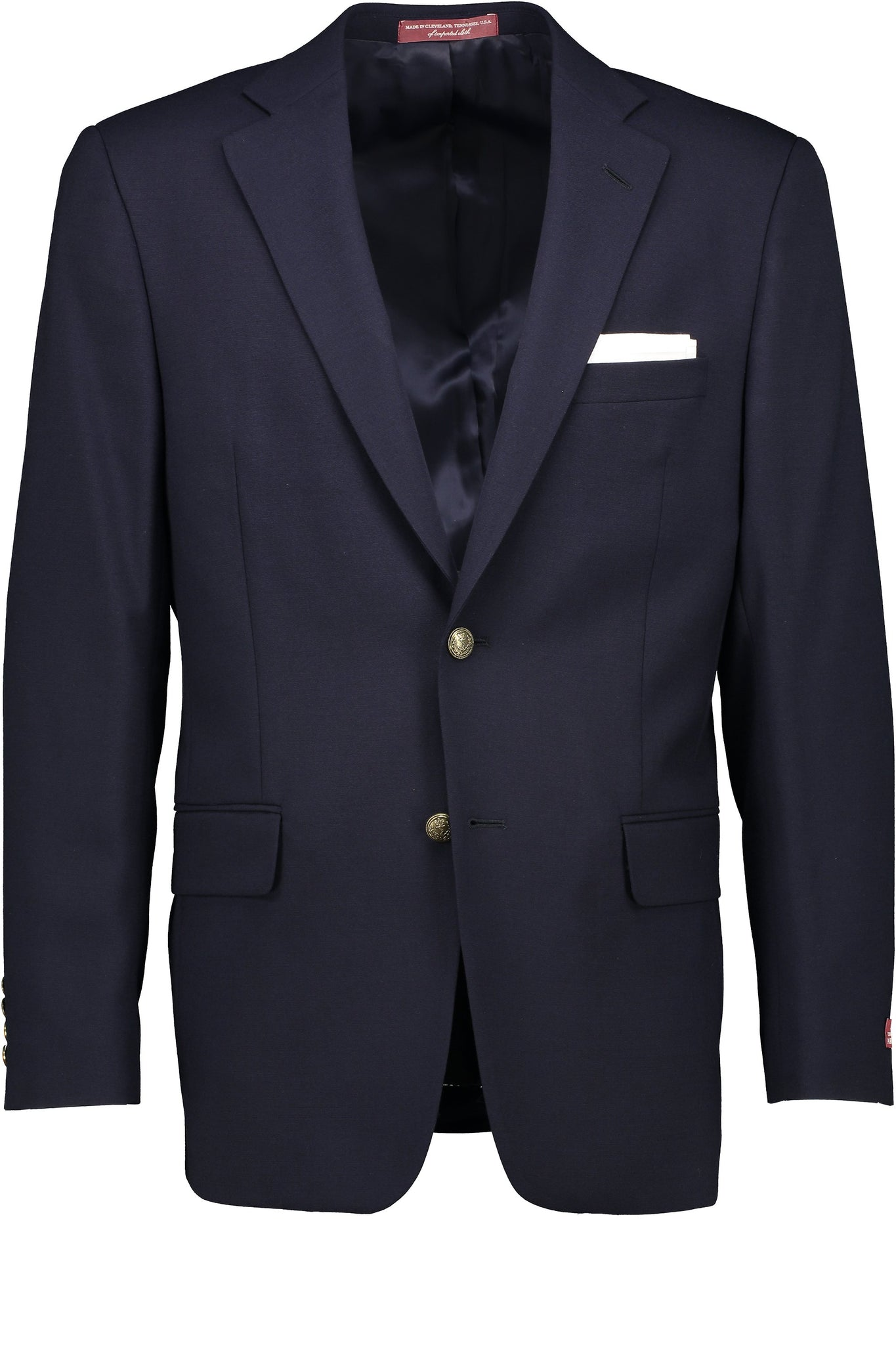 Classic Fit Tropical Wool Navy Blazer -  Hardwick.com