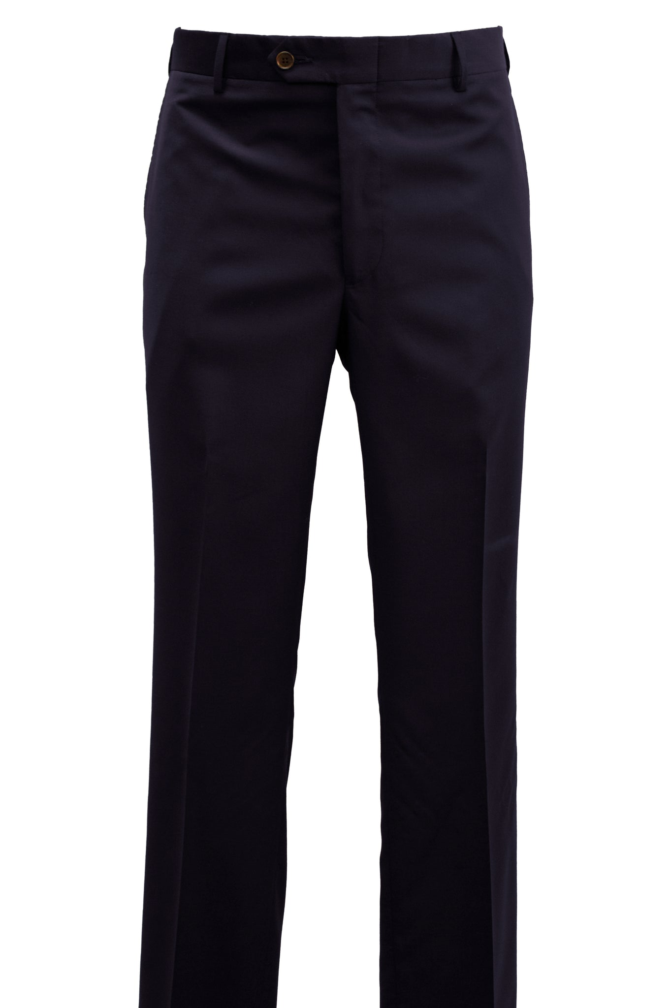 Modern Fit Navy Super 120's Wool Flat Front Dress Pant -  Hardwick.com