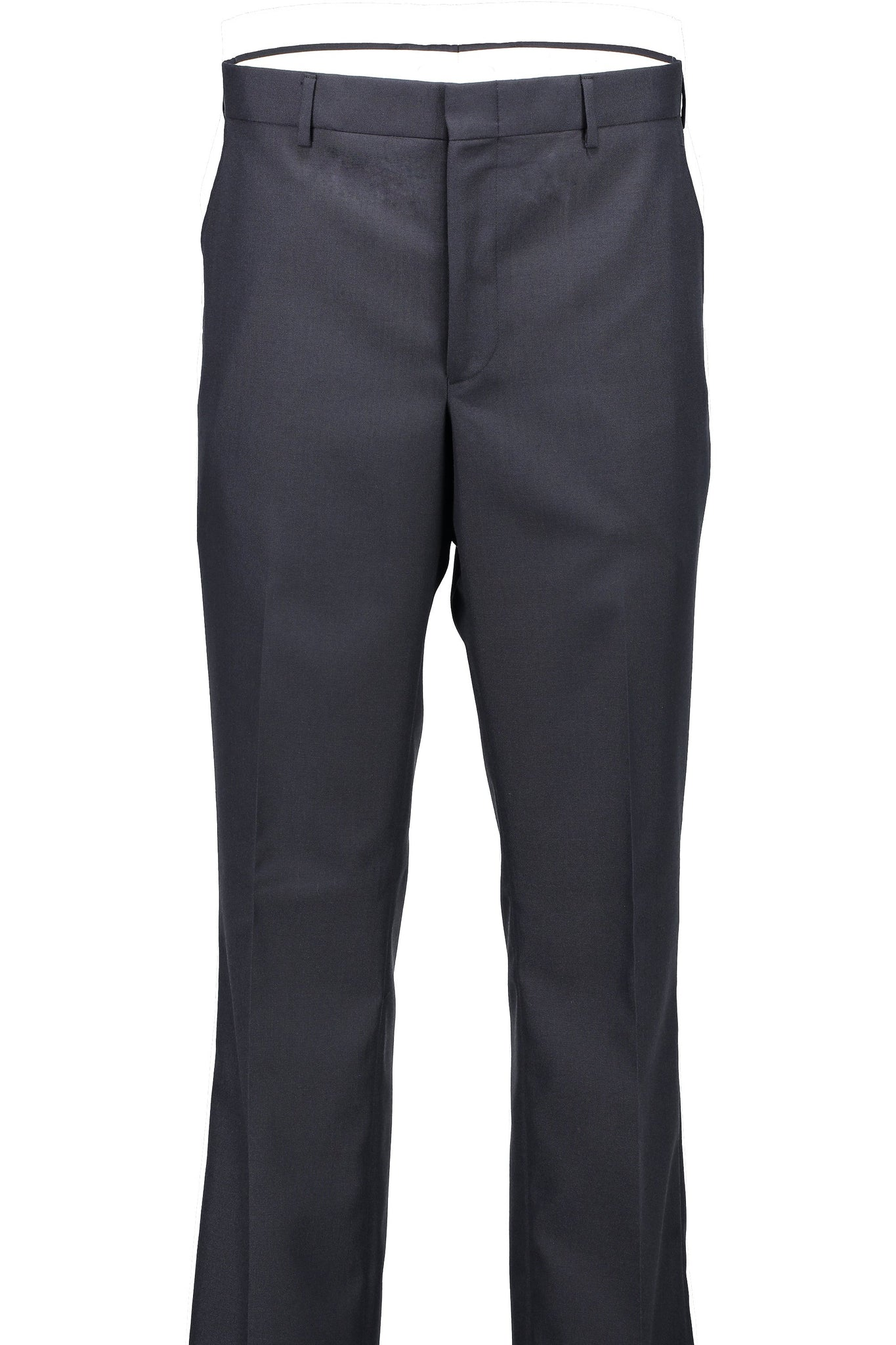 Classic Fit Navy Wool Traveler Suit Separate Flat Front Pant