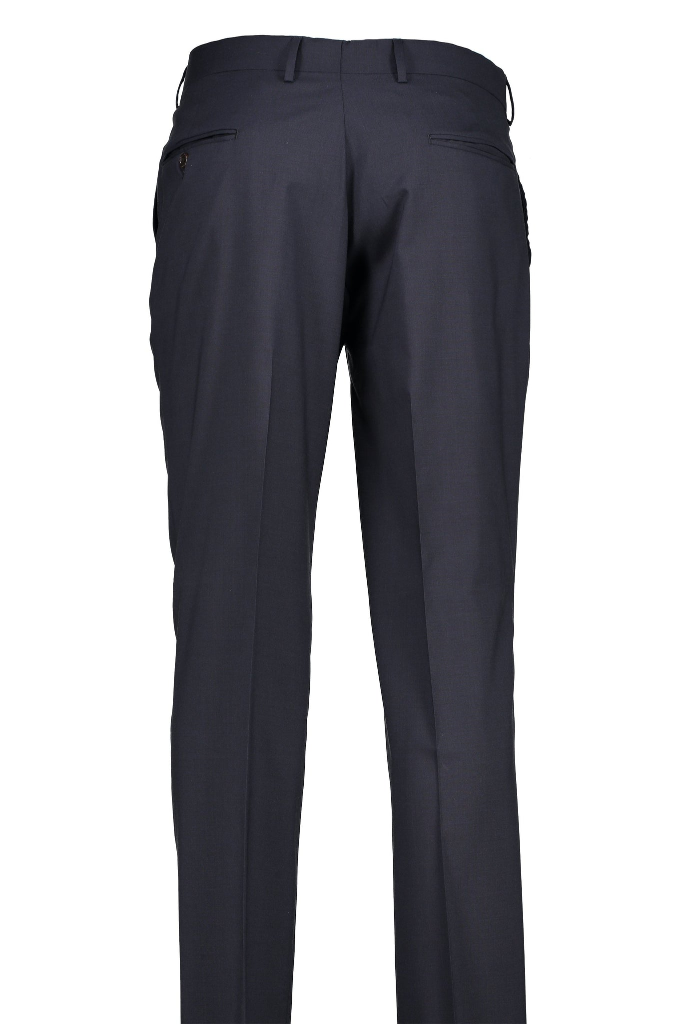 Classic Fit Navy H-Tech Wool Suit Separate Flat Front Pant