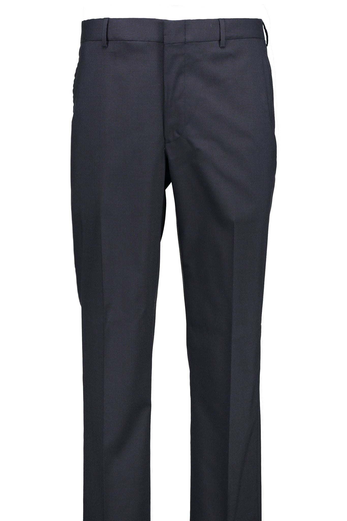Classic Fit Navy H-Tech Wool Suit Separate Flat Front Pant -  Hardwick.com
