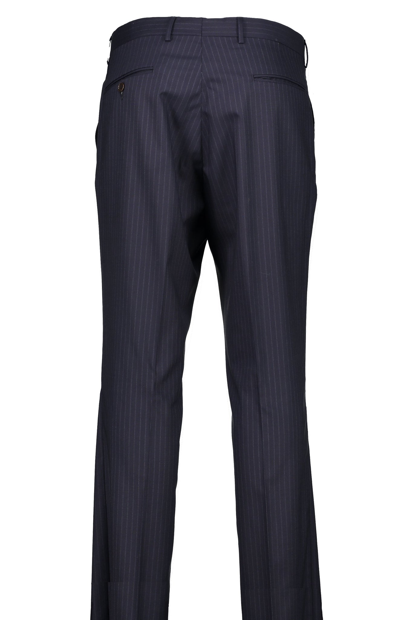 Classic Fit Navy Pinstripe H-Tech Wool Suit Separates Flat Front Pant -  Hardwick.com