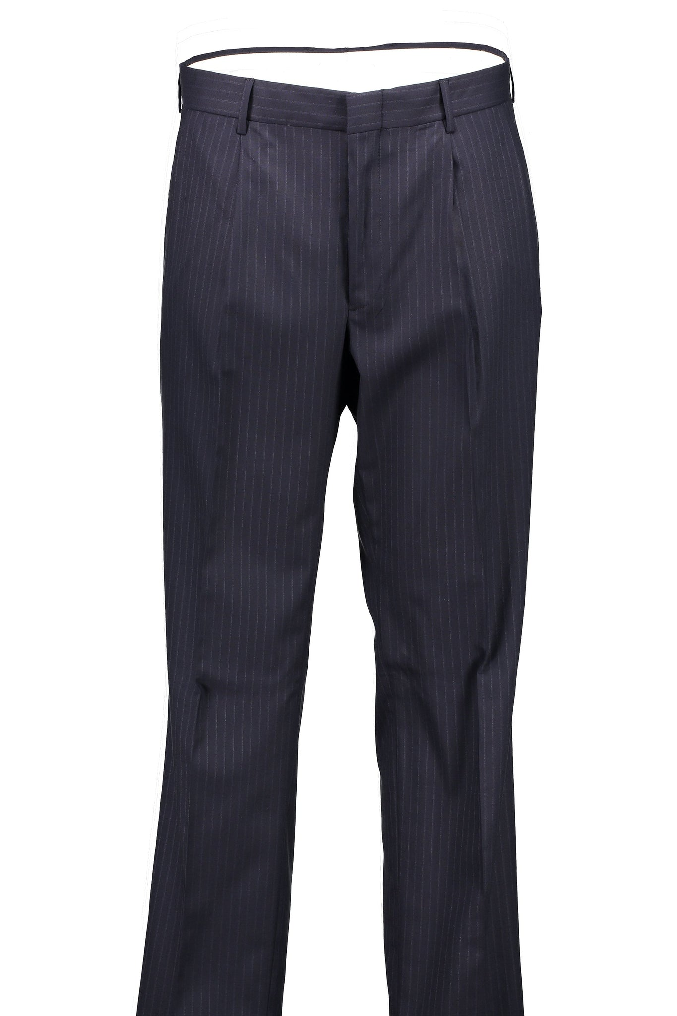 Classic Fit Navy Pinstripe H-Tech Wool Suit Separate Pleated Pant -  Hardwick.com