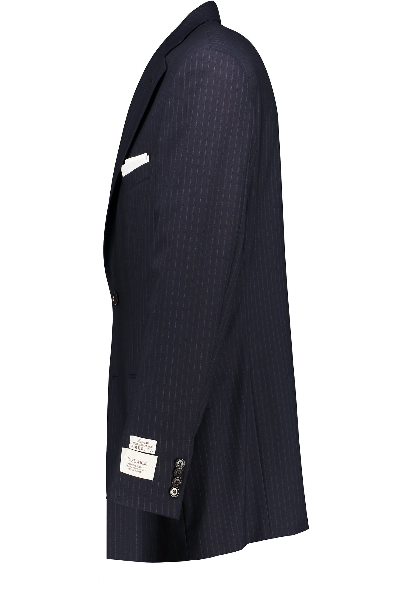 Classic Fit Navy Pinstripe H-Tech Wool Suit Separate Jacket -  Hardwick.com