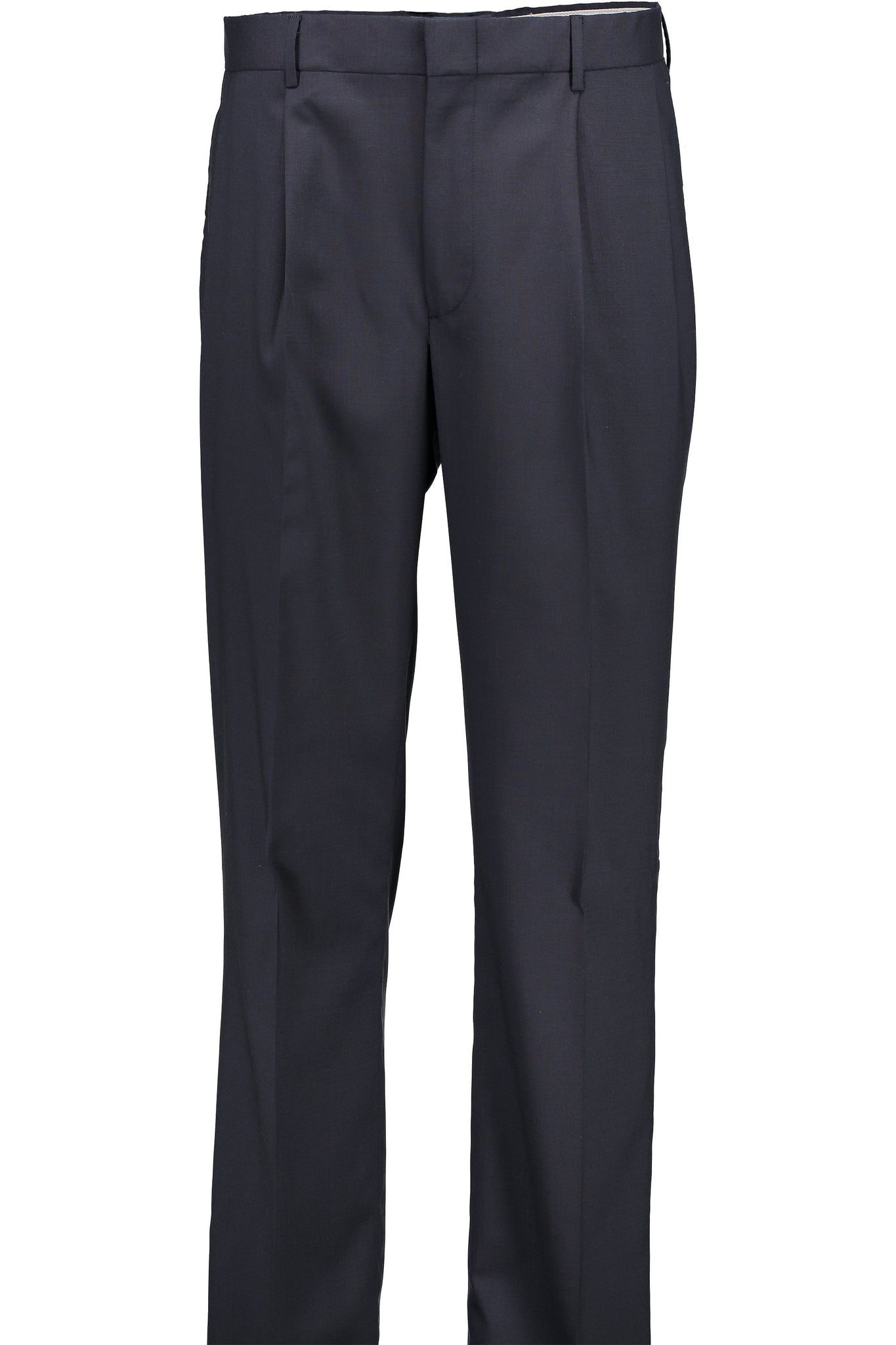 Classic Fit Navy H-Tech Wool Suit Separate Pleated Pant -  Hardwick.com