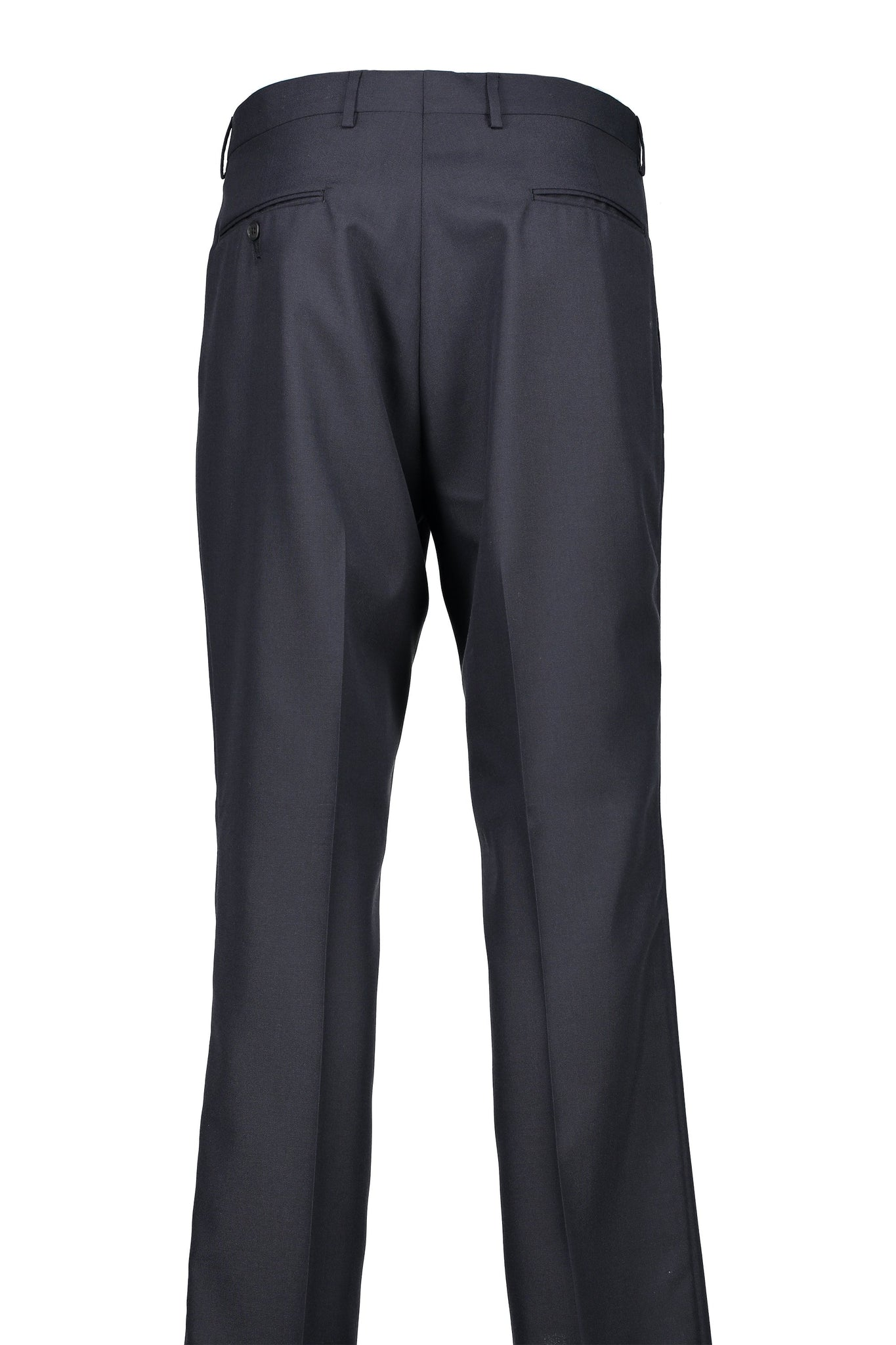 Classic Fit Navy Wool Traveler Suit Separate Pleated Pant