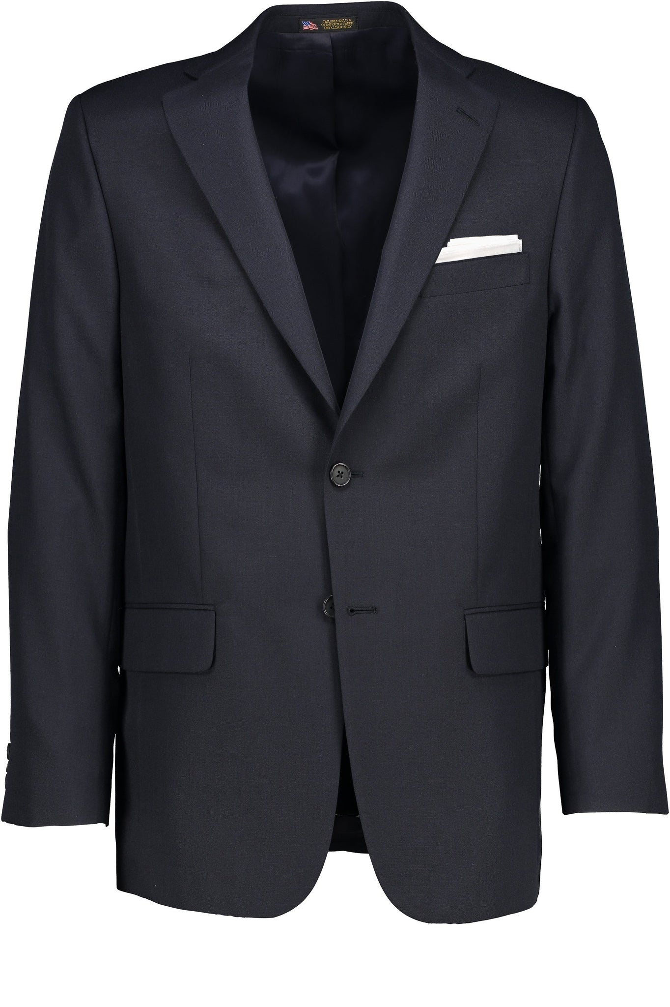 Classic Fit Navy Wool Traveler SS Jacket - Big & Tall -  Hardwick.com
