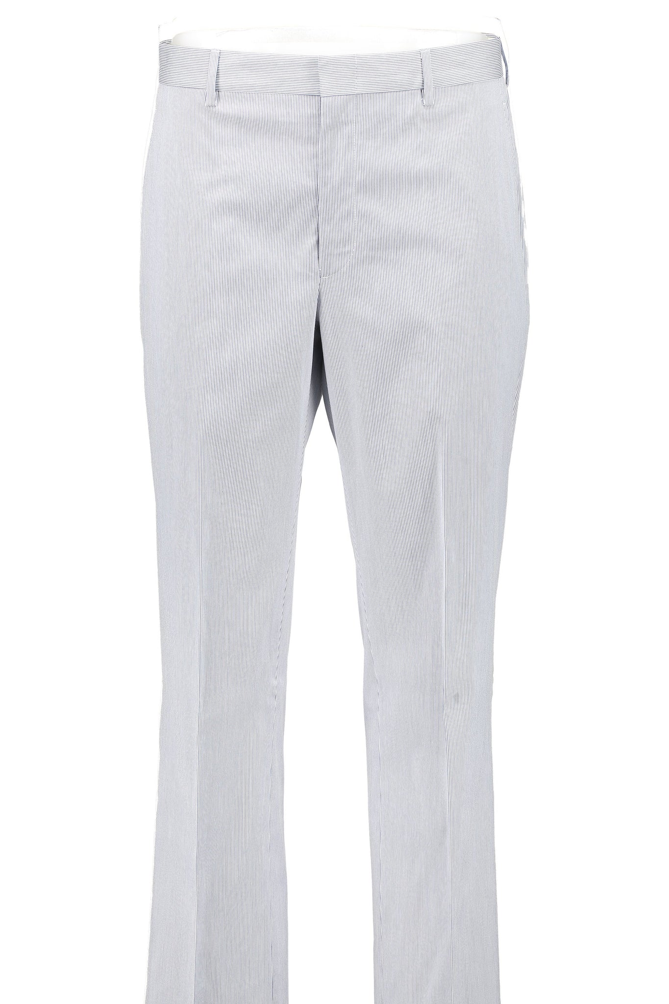 Classic Fit Blue & White Pincord Cotton Suit Separate Flat Front Pants -  Hardwick.com