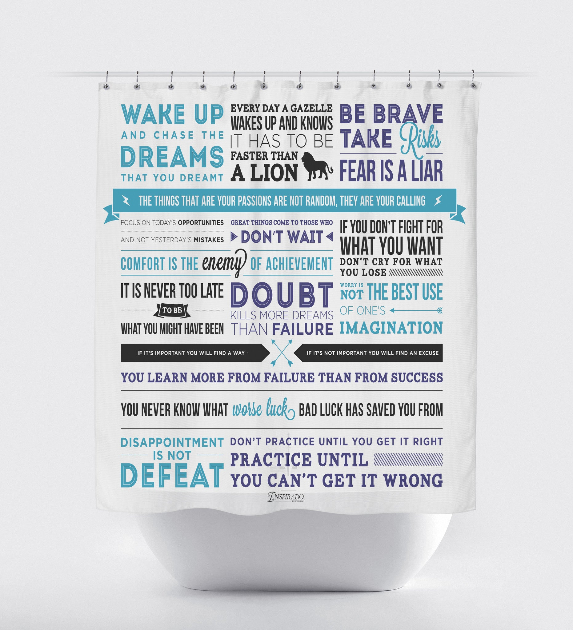 Inspirational Phrases Inspirational Quotes And Phrases Fabric Shower Curtain Using