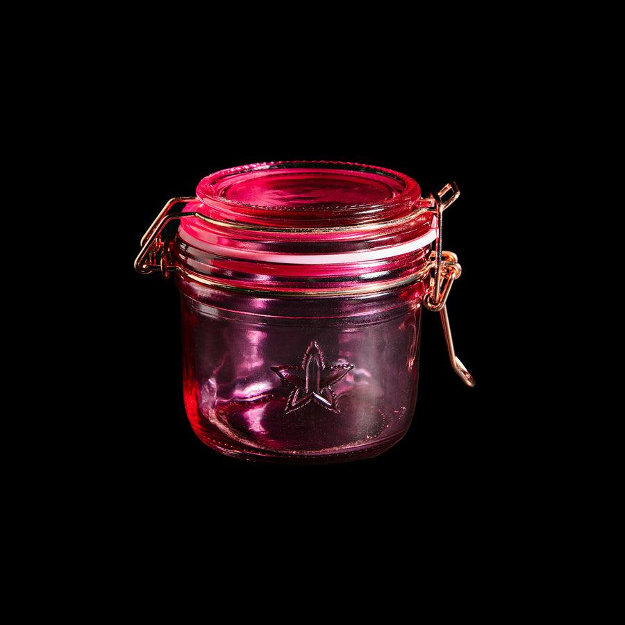 200 ML SNAP LID PINK GLASS JAR