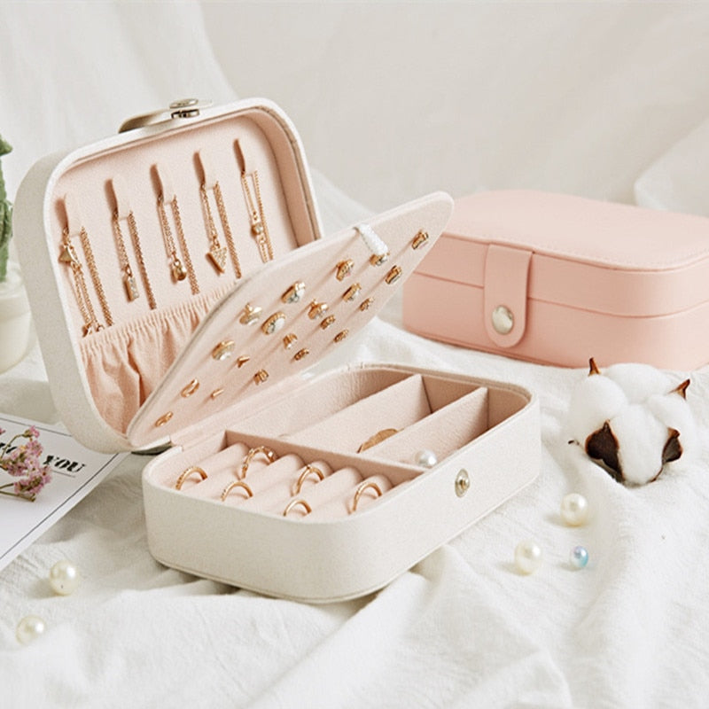 Portable Jewelry Box Organizer