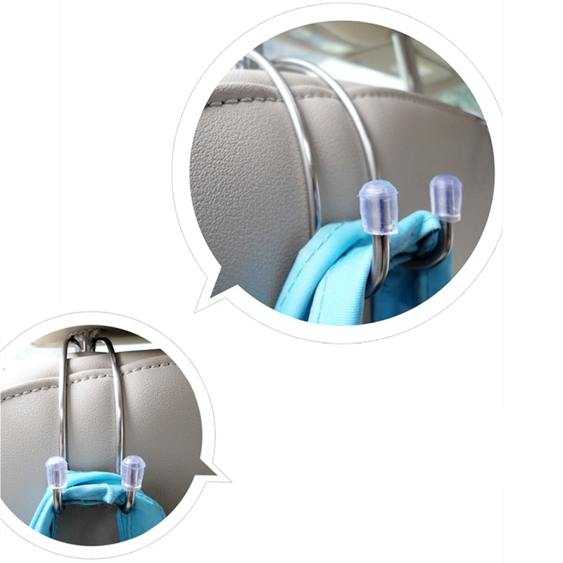 2 PCS Car Headrest Hanger