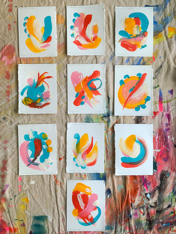 Small Abstract Fine Art Paintings by Artist Jordan McDowell